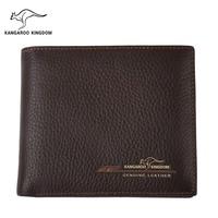 KANGAROO KINGDOM Fashion Men Wallets Genuine Leather Business Male Pocket Purse Brand Slim Credit Card Wallet