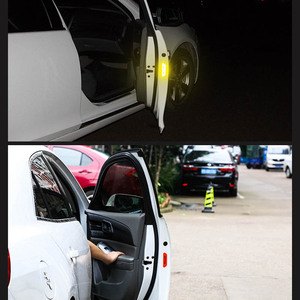 Image 4 - 4Pcs/Set Car reflective stickers Tape Warning Mark Night Driving Safety Lighting Luminous Tapes Accessories Car Door Stickers