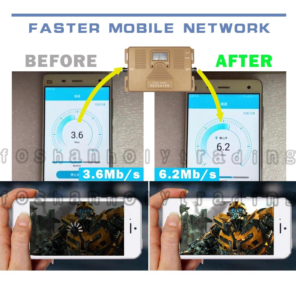 ATNJ 4G LTE 800 B20 LTE 1800 B3 Dualband Cellular Signal Repeater 4G - Reservdelar och tillbehör för mobiltelefoner - Foto 3