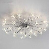 Современные светодио дный потолочный светильник небо звезды освещение потолка Спальня Гостиная светильники люстры лампы освещения дома