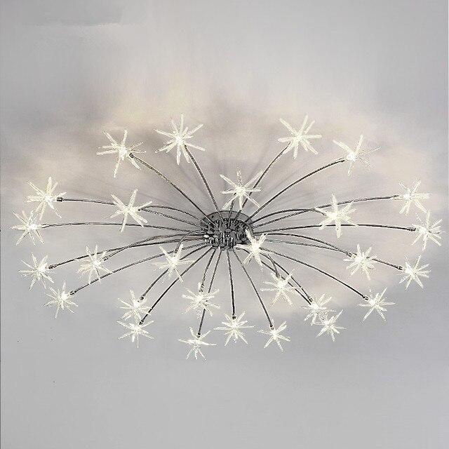 Plafond moderne leds lampe ciel toiles plafond clairage chambre salon luminaires lustres - Plafond chambre etoile ...