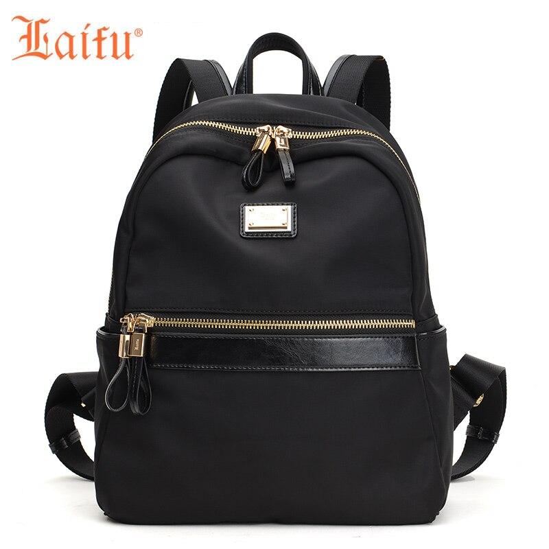 Laifu Fashion Woman Backpack Female Travel Shoulders Bag Teenage Girls Student Schoolbag (Black) детские товары для ванной ai laifu