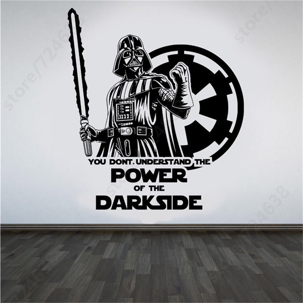 Large star wars darth vader vinyl wall art sticker room bedroom large star wars darth vader vinyl wall art sticker room bedroom movie decal poster wall stickers home living room decor in wall stickers from home garden amipublicfo Gallery