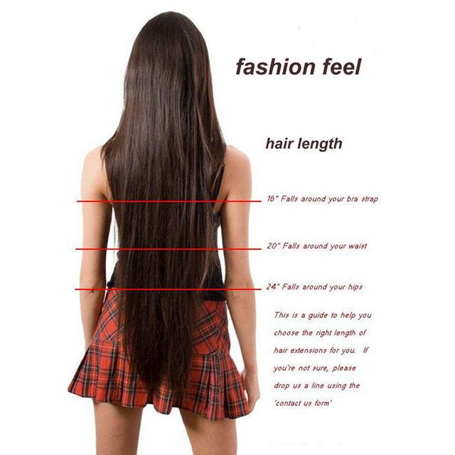 Online Shop S Noilite Long Women Clip In Hair Extensions One Piece