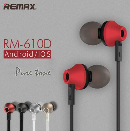 Remax Microphone Wired Headset Base-Driven High Performance Stereo MUSIC Sports In Ear Earphone Call Earphone for Phone xiaomi remax rm 610d base driven high performance stereo earphone with microphone and in line control rm 610d