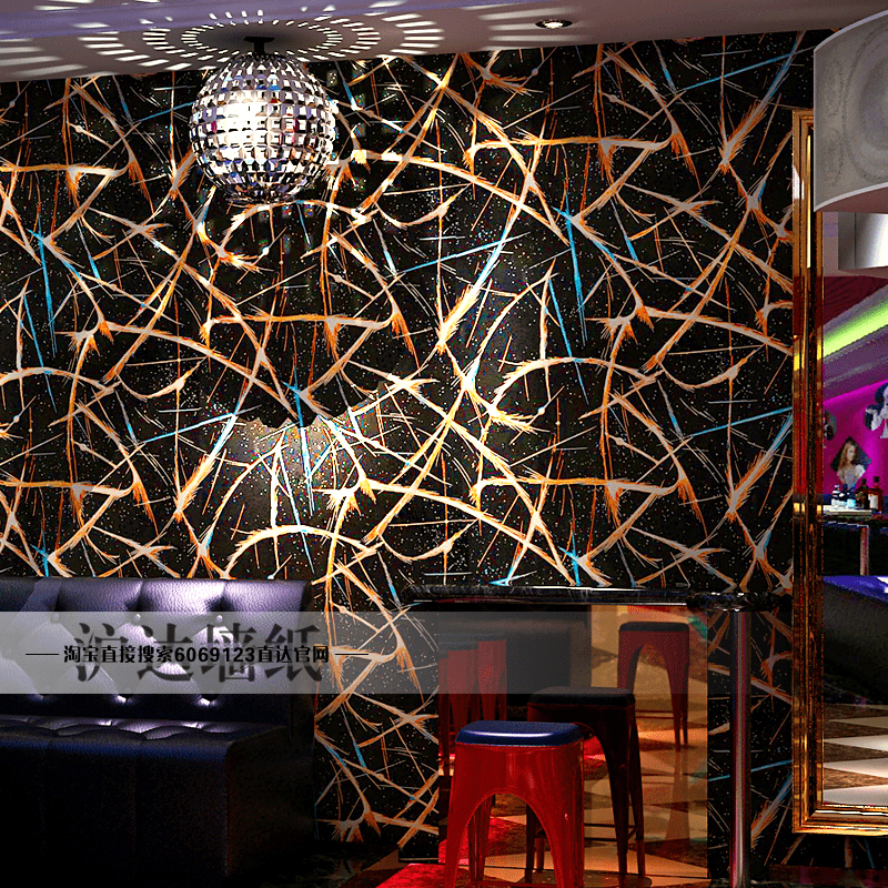 Fashion Trend 3d Wallpaper Bedroom Reflective Wall Papers Popular Bar Ballroom Ktv Theme Room Decor Flash TV Backdrop In Wallpapers From Home