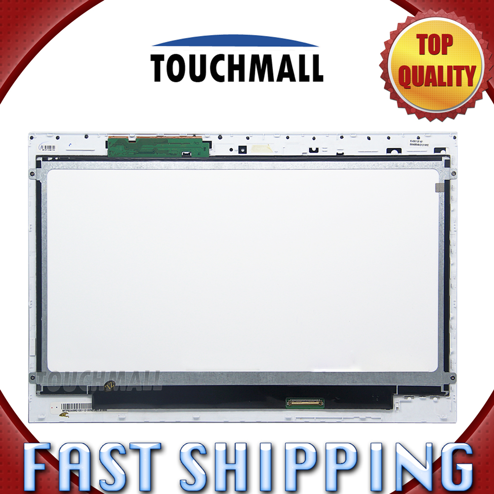 For New LCD Display Touch Screen Digitizer + Frame Assembly Replacement Sony Vaio SVT131A11L SVT131A11T 13.3-inch Free Shipping lq080v3dg01 8 0 inch lcd brand new with toucanel