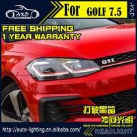 AKD Car Styling Head Lamp for Volks Wagen Golf 7.5 Headlights 2018 New Golf LED Headlight Dynamic LED DRL D2H Hid Bi Xenon Beam