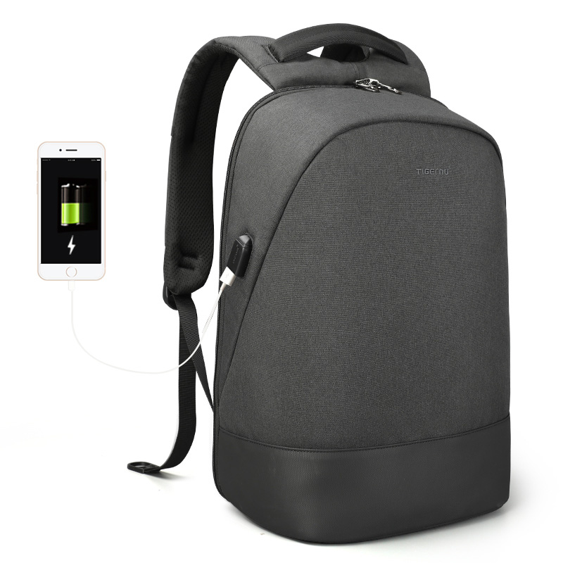 Oxford Laptop Backpack with USB Charging Port Fits 15.6 Inch Notebook Water-Resistant
