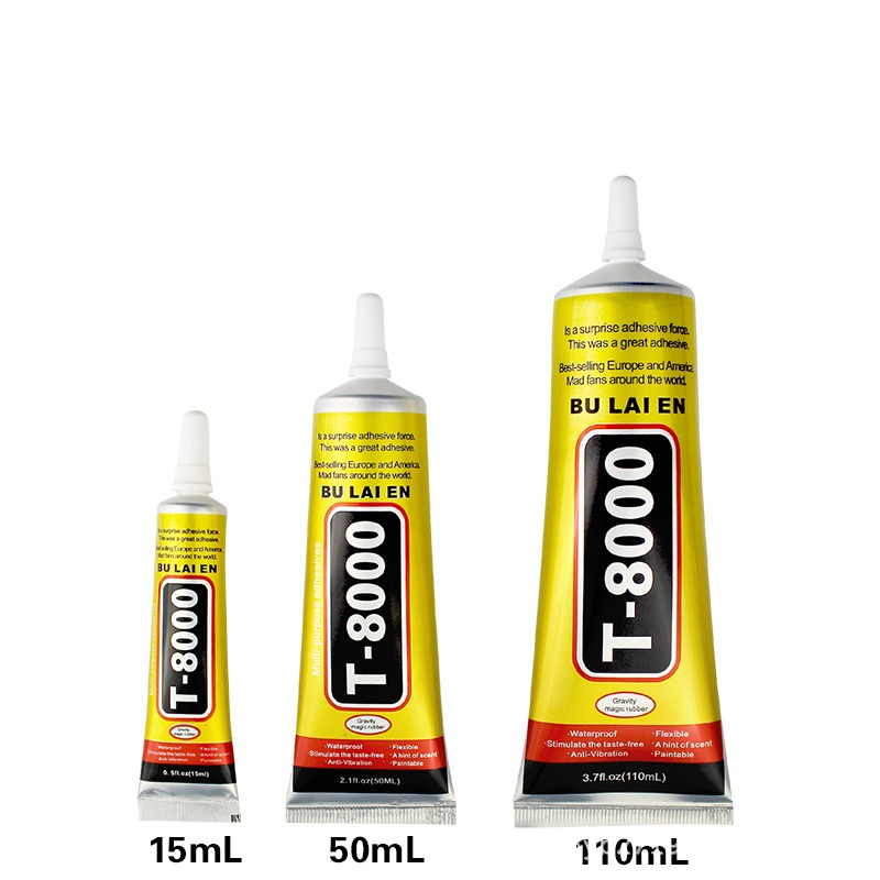 T8000 50ml Multipurpose Sealant Adhesive Rhinestone Jewelry DIY Phone Screen Glass Repair Epoxy Resin Super Liquid Glue Nail Gel