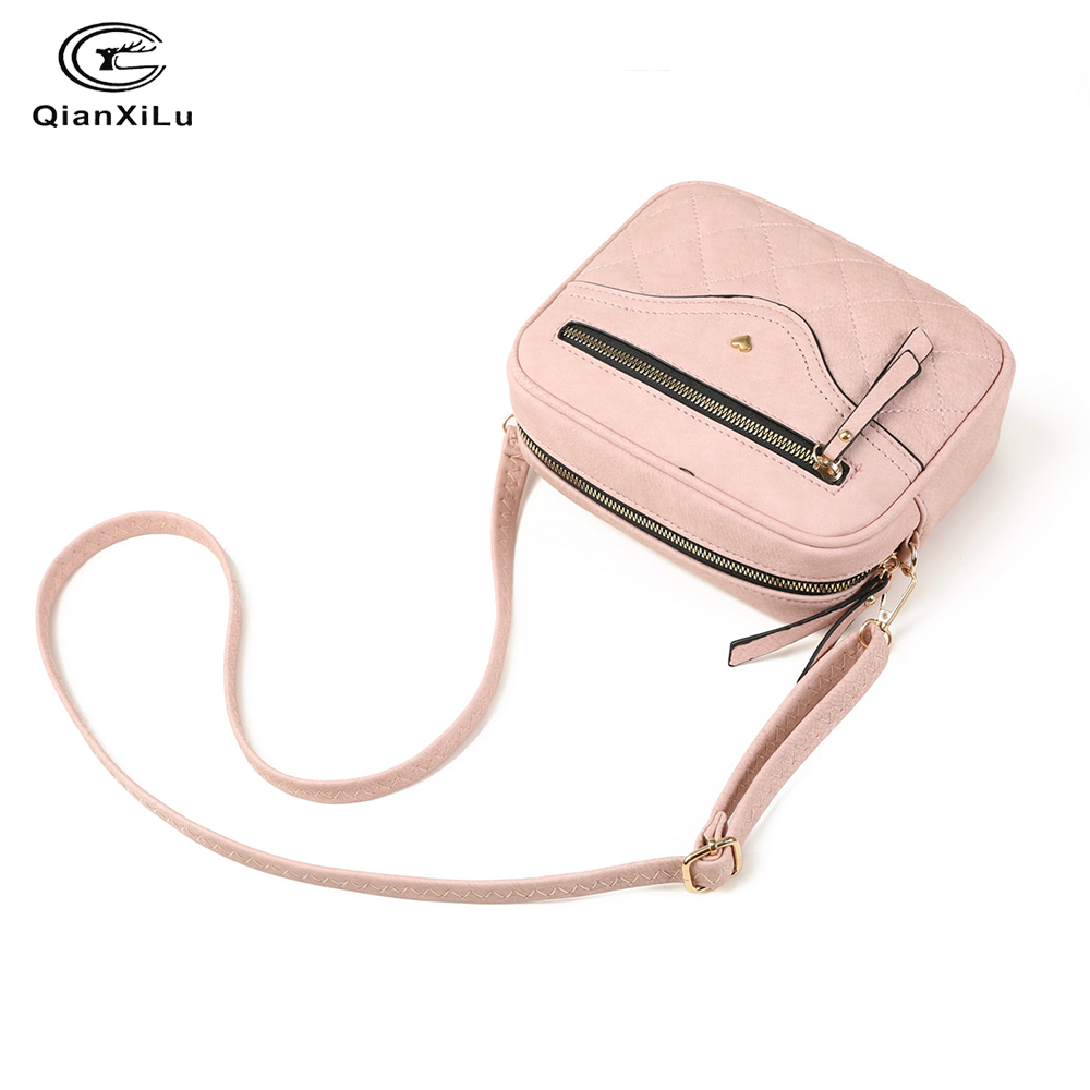 Image 3 - QIANXILU Fashion Crossbody Bags For Women 2019 High Capacity Shoulder Bag PU Leather Handbag Female Zipper Messenger BagsShoulder Bags   -
