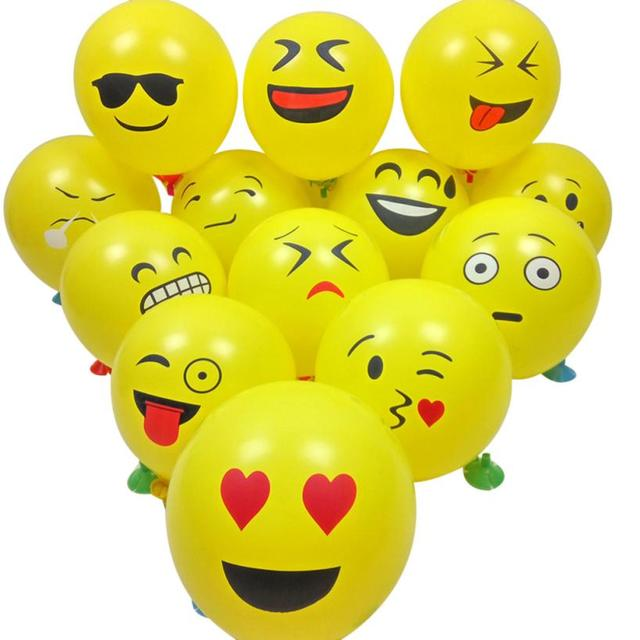 10 20 50 100pcs cute emoji face balloons for festival birthday party xmas