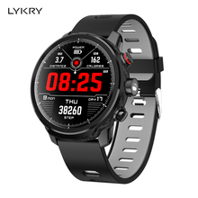 LYKRY L5 Full Touch Screen Smart Watch Men Waterproof Bluetooth Heart Rate Sports Swimming IP68 Smartwatch For IOS Android лампочка gauss led filament candle tailed dimmable e14 5w 4100k 104801205 d