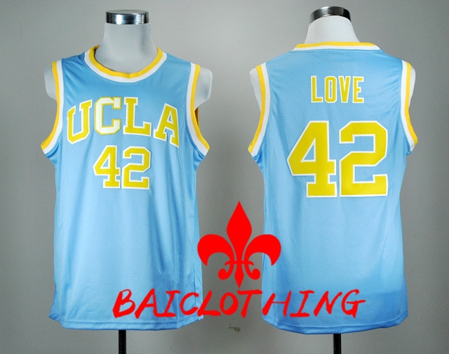12641ad656d3 ... 2017 UCLA Bruins Kevin Love 42 College Basketball Authentic Jersey -  Blue Size S