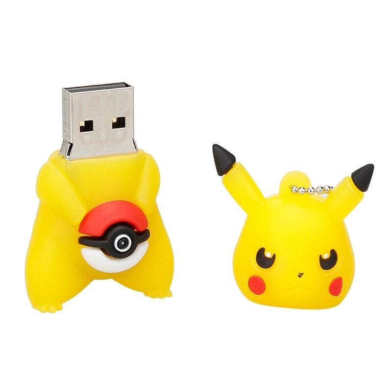 Image 5 - Классические USB флеш накопители 16 ГБ 32 ГБ 64 ГБ Pokemon Pikachu мультяшный флеш накопитель 4 ГБ 8 ГБ Флешка 128 ГБ Usb 2,0 карта памяти животного Горячая-in USB флэш-накопители from Компьютер и офис