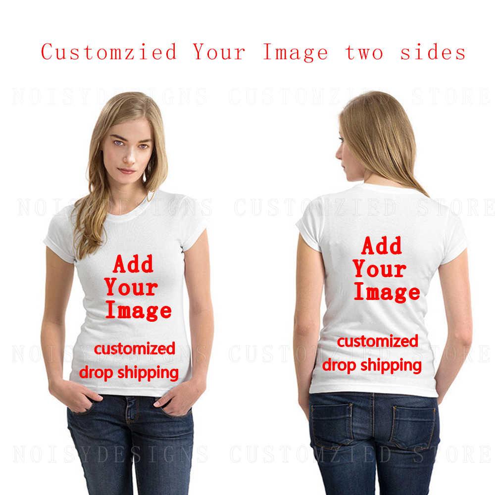 2019 Personalizzato Casual Donne di Estate T Shirt Divertente Pastore Tedesco di Stampa Femminile Manica Corta Tee Ragazze Lady Magliette e camicette Coppia Dropshipping