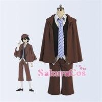 Custom Size Bungo Stray Dogs Edogawa Ranpo Cosplay Costume With Full Uniform Sets Shirt Cloak Vest
