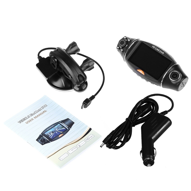 Car DVR GPS Dual HD Camera with Night Vision