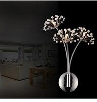 Led 벽 램프 LED Sconce 빛 크리스탈 현대 홈 장식 벽 조명 침대 옆 침실/다 이닝 룸/화장실 전구