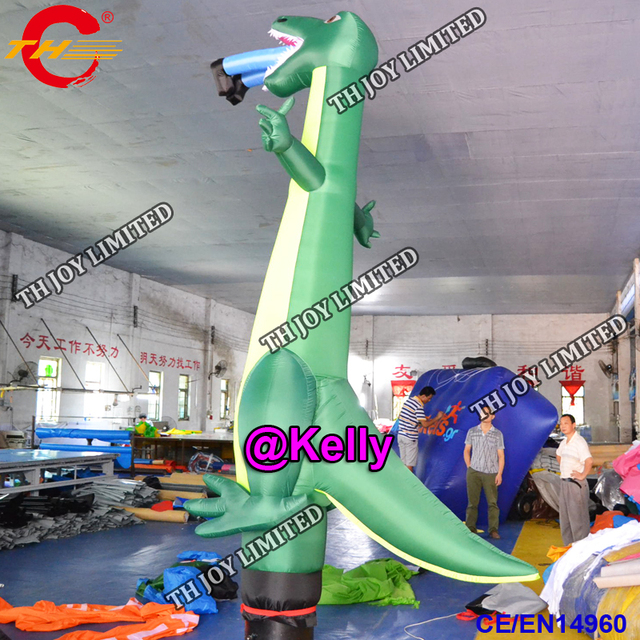 Free Door Shipping Dinosaur Inflatable Air Dancer For Custom Make New Design Sky