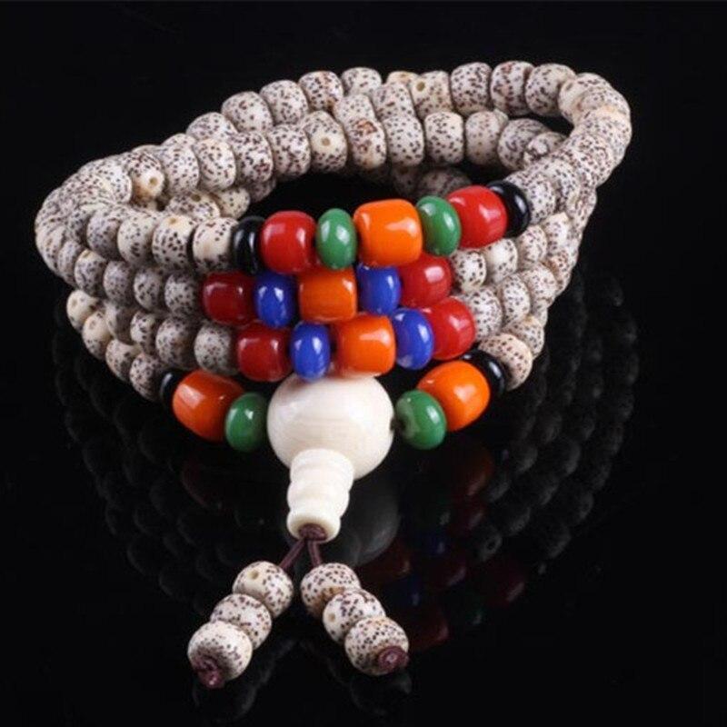 Sennier 5mm 108 naturel xingyue bodhi graines bouddhiste prière mala perles femmes bracelet collier bijoux avec perles de corail rouge