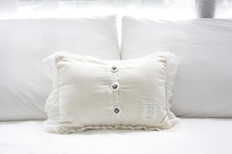 Riviera Maison Kussen : Riviera maison original single crochet lace wool blend cushion