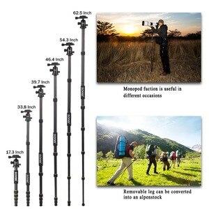 Image 5 - Professional Q666C portable travel carbon fiber tripod Monopod&Ball head for DSLR SLR digital camera