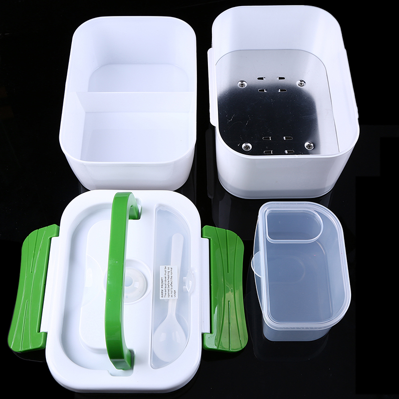 12V Car Plug Heated Bento Box 1 2L Autos Truck Electric Meal Prep Heating Food Warmer