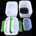 12V Car Plug Heated bento box 1-2L Electric Heating Lunchbox Food Warmer Truck Stove Oven Lunch Box with Spoon geschirr
