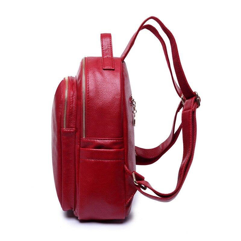 Fashion Womens Genuine Leather Backpacks Women Girls Students School Bag Shoulder Bags Women Casual Back Packs Travel Bag