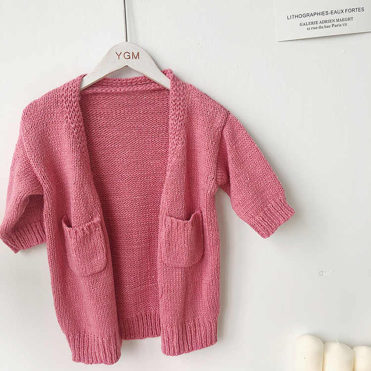 d1a3febf60ecd 2019 Spring new items Children Long Knitted Cardigan Sweaters Korean Style  Unisex Kids Clothes Baby Girls Boys Casual Sweater