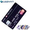 Leizhan unidad flash usb 4g 8g16g 32g usb tarjeta de crédito Pen Drive pendrive 64G personalizado logotipo personalizado USB flash disk tarjeta