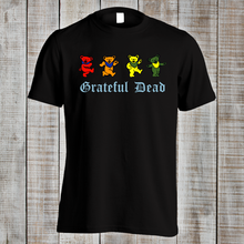 Grateful Dead Psychedelic Rock Woodstock Music Funny Dancing Bears T Shirt Top Tee 100% Cotton Humor Men Crewneck Shirts