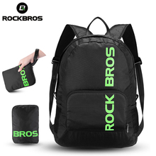 ROCKBROS Bicycle Backpack Portable Foldable Rainproof Outdoor Equipment Cycling Hiking Camping Travel Package Teenage Schoolbag(China)
