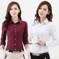 2016 Autumn Spring Women Shirt Patchwork Plaid ladies office shirts Basic Top Blusas Women Blouses Shirt Camisas Femininas-43