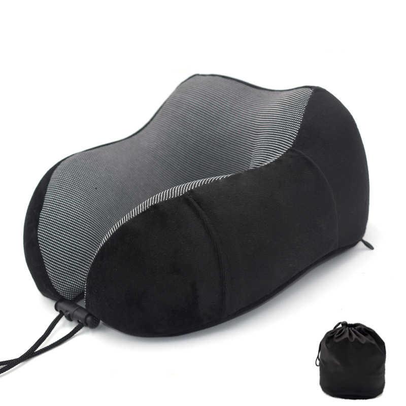 新 U 型メモリ泡の首枕ソフト遅いリバウンド宇宙旅行枕固体首頚椎ヘルスケア寝具ドロップ無料