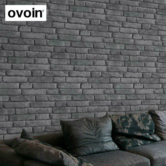 Black 3D Effect Brick Wall Wallpaper Roll Vinyl Vintage Rustic Dark Grey Faux Texture Paper For Living Room Decor In Wallpapers From Home