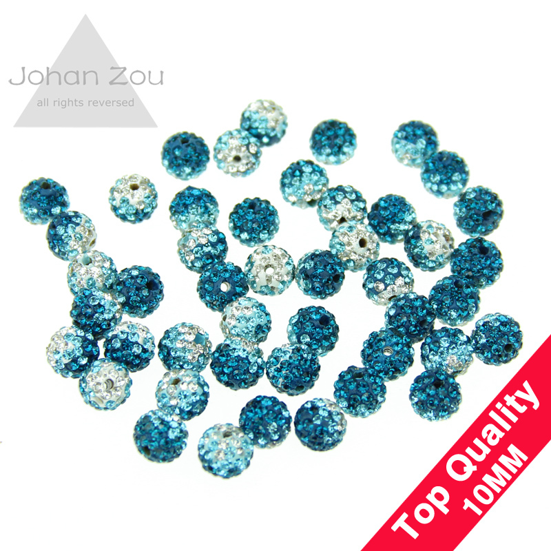 wholesale 10mm shamballa beads accessories gradient color