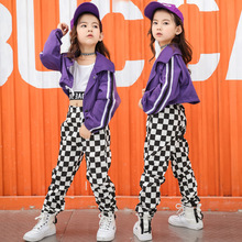 Tank Top Jacket Pants Suit Jazz Street Dance Costumes for Kids Girls Hip Hop Clo