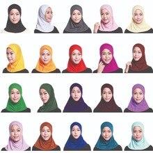 イスラム教徒の女性フルカバーキャップヒジャーブミニスカーフ帽子ターバン帽子ヘッドカバーイスラムスカーフの下無地スカーフアミラ忍者