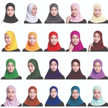 Couvre chef Hijab pour femmes musulmanes, Mini foulard, Turban, couvre chef, foulard islamique, couleur unie, foulard, Amira Ninja