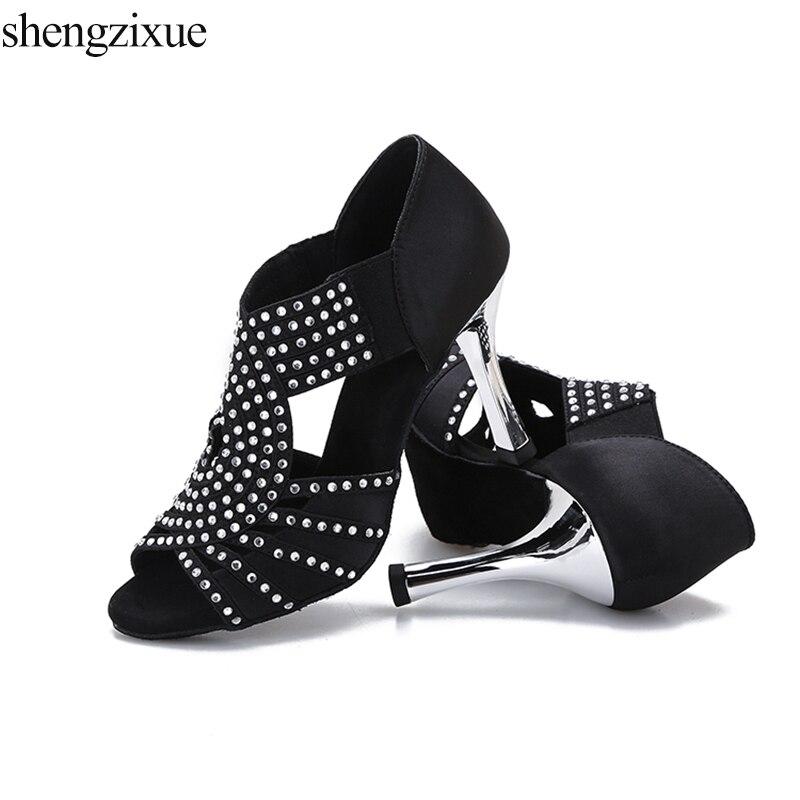 shengzixue Women Dance Shoes Modern Latin Tango Salsa Ballroom Shoes Ladies  Girls Party shoes 8.7CM 6a4567cc5f5e