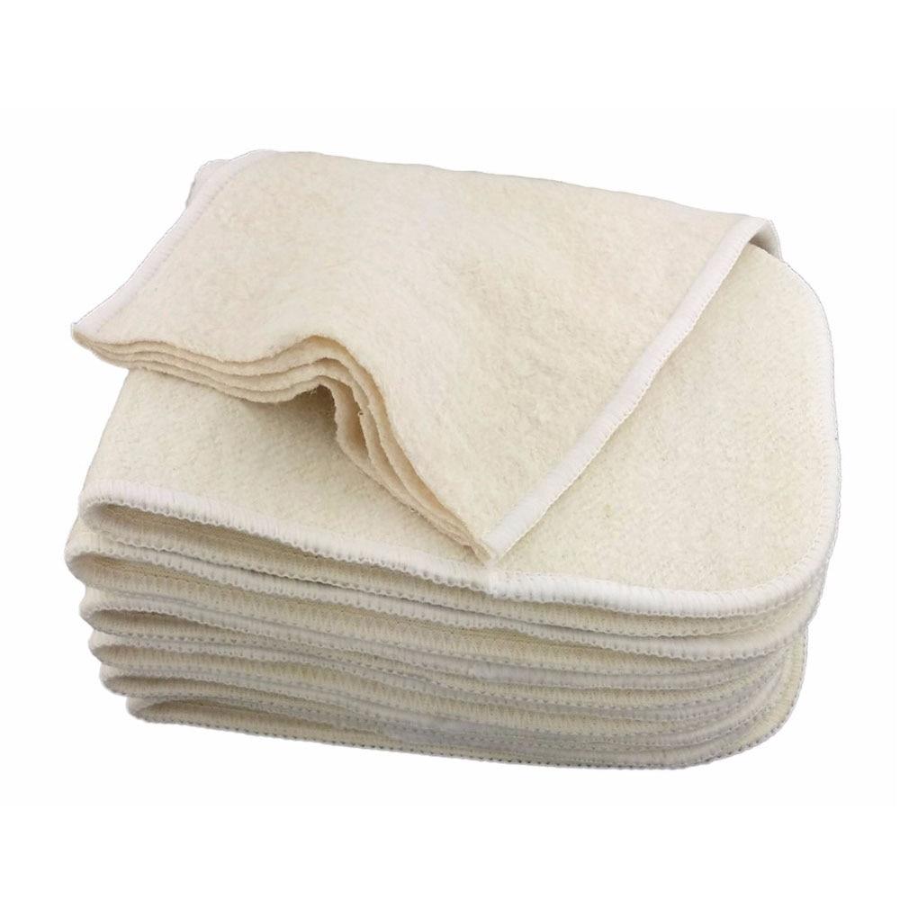 100% inserção de algodão de cânhamo orgânico 4 camadas pano fralda fralda forros reutilizáveis bebê fraldas inserção cânhamo bebê almofada soaker