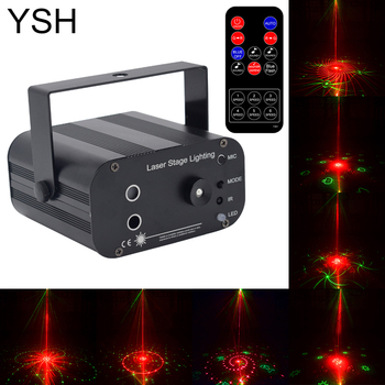 YSH Disco Laser Light 3 beam 48 patterns Home Party DJ Stage Lighting Laser 48 Patterns Projector for Disco Club Stage Effect tiptop tp e36 professional club dj disco projector stage laser light party green red voice control 20w shaking glass laser beam