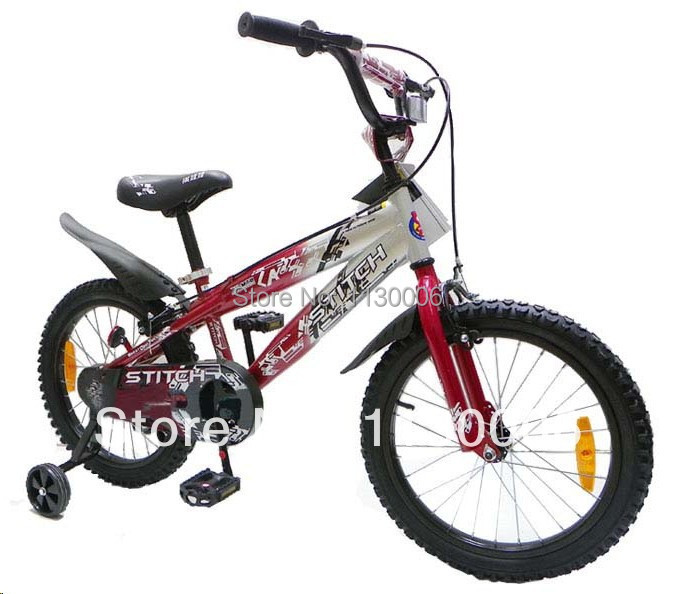 c444b400010 2014 newest QIWAWA 18 inch children bicycle kids bike contains auxiliary  wheel 2 colors Free shipping