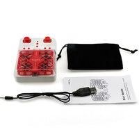 Dhd الجزئي d3 reddie الجيب drone quadcopter rc مروحية الأحمر 2.4 جرام وضع التحكم عن 4ch محور الدوران بلا للأطفال الطفل