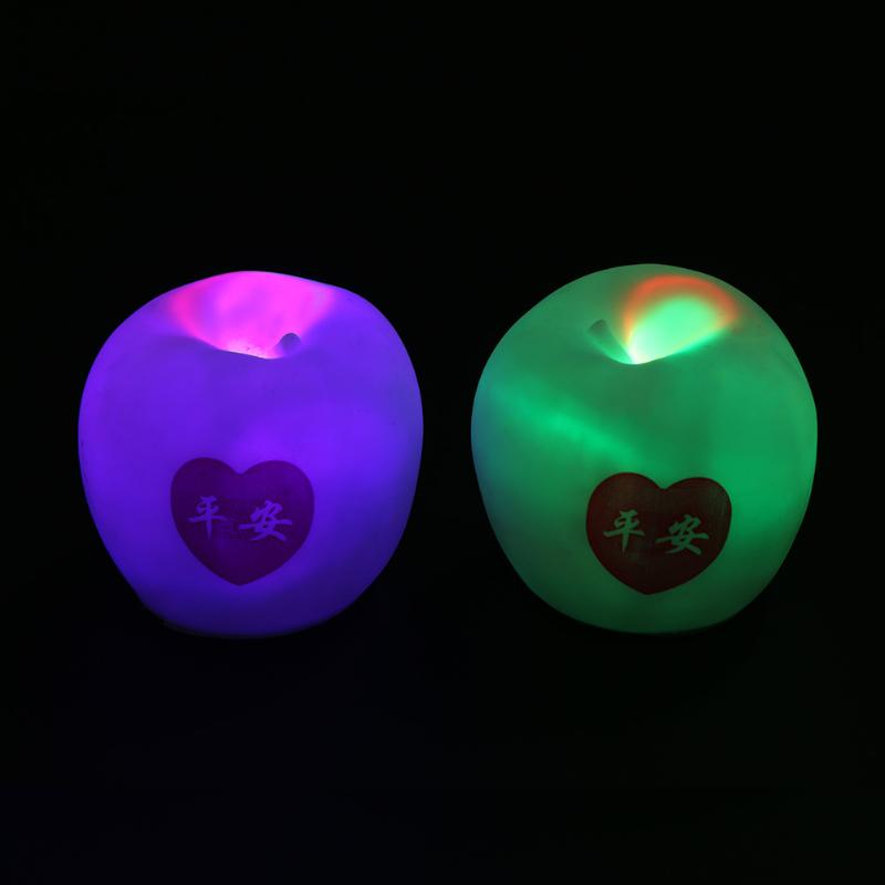 Colorful Apple Shape LED Night Light Color Changing bedroom Living Room Lamps Christmas New Year Party Decor Christmas Eve Gift