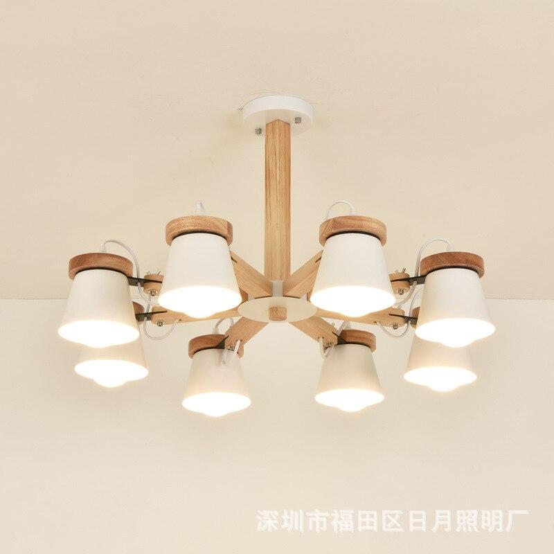 Nordic Pendant Lights For Home Lighting Modern Hanging Lamp Wooden Aluminum Lampshade LED Bulb Bedroom Kitchen Light 90-260V E27