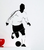 New Fashion Football Vinyl Wall Decal Sport Football Player Housewares Bedroom Soccer Mural Wall Sticker Kids