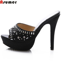 ASUMER 2017 hot sale new arrive women sandals bling platform summer high heels sandals lady prom shoes comfortable